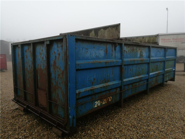 Diverse 6000mm 21 m3 container til wire